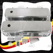 Smooth Polished Aluminum Tall Valve Covers For 65-95 Chevy Bb 396 427 454 502