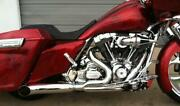 Dandd Chrome Stubby Cat 2 Into 1 Exhaust For Harley Touring Models 09-16