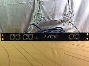 Aaton Digital Audio Sound Ltc Breakout Panel With 2 Db15 Male Cable Rackmount 1u