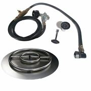 Stainless Steel Fire Pit Propane Gas Pan-ring Kit Size 22 H X 22 W X 2 D