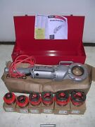 Ridgid 700 Power Pony Pipe Threader Six 12r Die Heads 1/2-2 Metal Case And Manual