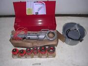 Ridgid 700 Power Pony Pipe Threader Six 12r Die Heads 1/2-2 Oiler Case And Manual