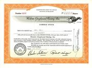 Western Greyhound Racing Inc 1957 Delaware Old Stock Certificate Share