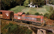 Morristown And Erie Alco Rs1 Switcher Diesel Locomotive Train Railroad Postcard
