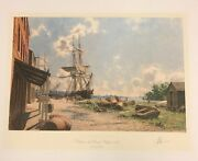 Georgetown Vessels At The Potomac Wharf 1842 By John Stobart Signed And Numbered