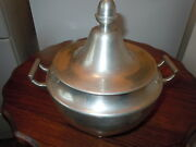 Vintage Woodbury Pewterers Pewter Serving Dish With Lid Top Quality Antique