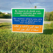 12 Packs No Matter Where You Are From Weand039re Glad Youand039re Our Neighbor Signs/ship