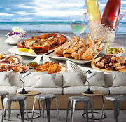 3d Delicious Seafood 1056 Paper Wall Print Wall Decal Wall Deco Indoor Murals