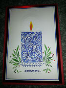 16 Hallmark Mosaic Candle Christmas Cards And Envelopes Religious Boxed Set New