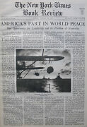 Allen Dulles - Can We Be Neutral Usa Peace 1936 January 26 Ny Times Book Review