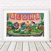 Lilo And Stitch - Disney Poster Picture Print Sizes A5 To A0 Free Delivery