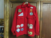 Boy Scout Red Wool Jacket Camp Mattatuck Lewiston Trail Council Rws Others A73