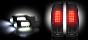 Recon Smoke Lens Led Tail Lights And White 6w Led Reverse Bulbs For Ford F250 Sd
