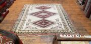 Beautiful Vintage 1960s Wool Pile Natural Dyes Dowry Rug 5andrsquo8andrdquox 6andrsquo4andrdquo