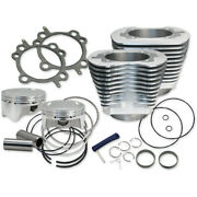 Sands Cycle 124 Ci Big Bore Cylinder Kit Stone Gray 11.41 Compression 07-16 Harl