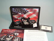 Motorcycle Harley-davidson 1957 Red Xl Sportster Franklin Mint 110 Display Case