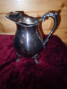 Antique Poole Bristol Silverplate Water Pitcher Vintage Old Quality Silver Plate