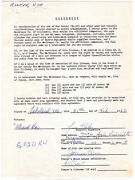 1962 Jim Rooker Signed 4x Macgregor Contract 1968 Tigers 1979 World Series