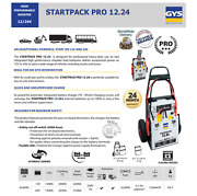 Gys Startpack Pro 12v + 24v Booster For Heavy Duty Use Starting With Trolley