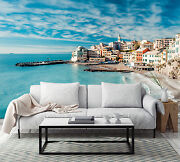 3d Seaside Houses 990 Wall Paper Print Wall Decal Deco Indoor Wall Murals