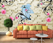 3d Flowers Leaves 456 Wall Paper Print Wall Decal Deco Indoor Wall Murals