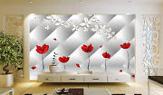 3d Flowers Reflections 215 Wall Paper Print Wall Decal Deco Indoor Wall Murals