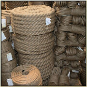 100 Natural Jute Hessian Rope Cord Braided Twisted Boating Sash Garden Decking