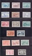 Us 230p4-245p4 1893 Columbian Issue Plate Proofs On Card Vf-xf Scv 2110