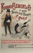 Late 18th Century Original Vintage French Bicycle Poster 'fernand Calment And Co'
