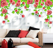 3d Flowers Leaves 565 Wall Paper Print Wall Decal Deco Indoor Wall Murals