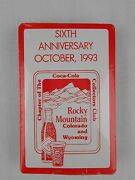 Rocky Mountain Coca-cola Collectors Club 1993 Playing Cards 1 Of 165 New Deck