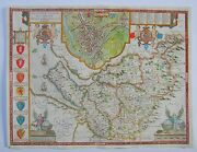 Cheshire Antique Map By John Speed, 1662-65