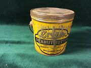 Tin Peanut Butter Pail - Bail Handle And Lid St. Laurent Bros.bay City Michigan