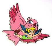 Rare Le 100 Disney Auctions Pin✿tinker Bell Tink Nature Pink Bird Flying Flight