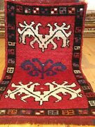 Antique 1900-1930and039s Tribal Rug 2and039 Andtimes 3and0394