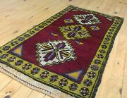 Antique Tribal Cushion Cover Wool Pile Rug Turkey 1andrsquo8andrdquox 3andrsquo1andrdquo