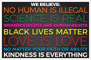 12 Packs We Believe - Kindness Is Everything Signs / Ship
