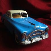 Hungary 1953 Tin Toy Car Packard Cadillac Ford Mercedes Volkswagen Antique Blue