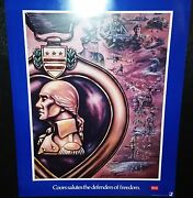 Vintage Poster 1986 Coors Salutes The Defenders Of Freedom George Skypeck - 4