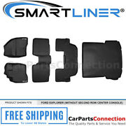 Smartliner Floor Mats Cargo For Explorer 2017-2019 Black A0245/b0082/c0082/d0082