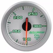 Fits Ford Dodge Chevy Etc Auto Meter Silver Airdrive Series Oil Temp Gauge..