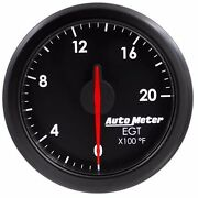 Fits Ford Dodge Chevy Etc Auto Meter Black Airdrive Series Pyrometer Gauge.
