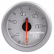 Fits Ford Dodge Chevy Etc Auto Meter Silver Airdrive Series Pyrometer Gauge.