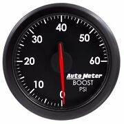 Fits Ford Dodge Chevy Etc Auto Meter Black Airdrive Series Boost Gauge..