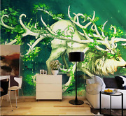 3d Painted Deer And Ducks Paper Wall Print Wall Decal Wall Deco Indoor Murals