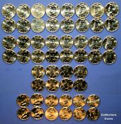 2000 - 2021 Kennedy Half Pandd And 2005 - 2010 Pandd Satin Uncirculated 56 Coin Set