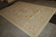 So Stunning Pastel Camel Beige French Scroll Roses Gorgeous Aubusson Carpet 33
