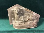 Large Early Sitting Lamb With Head Turned Tin Chocolate Mould Sommet 1806