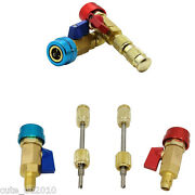 2pcs R134a A/c Car Air Conditioning 1/4 Sae Valve Core Needle Replace Tools Kit