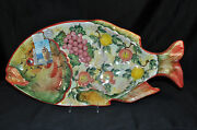 Art Ceramic Hand Painted Decorative Fish Wall Plaque by A. Meidani Greece New